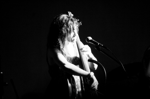 Alexandra Lawn on cello and vocals. - Photo by Lucas McComb